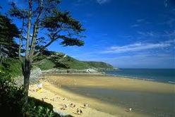 The lovely beach at Caswell Bay on the Gower Peninsula is also within easy reach.