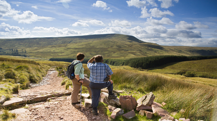 Self Catering Accommodation for walking holidays in the Brecon Beacons National Park, Wales