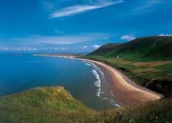The world renowned Rhossili Beach on the Gower Peninsula, great for walks and photography