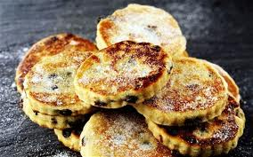 warm welsh cakes a speciality of Wales